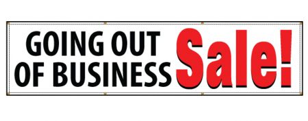 Going out of business banner image