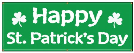 Happy St Patrick's Day banner image