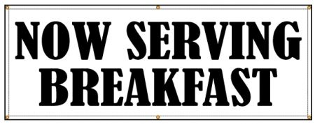 Now Serving Breakfast banner image