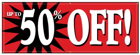 Up To 50% Off banner image