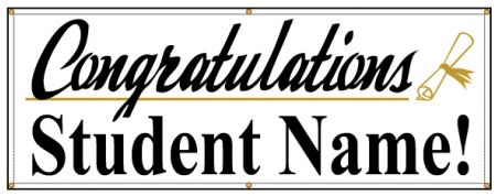 Congratulations student name banner image