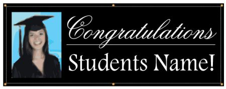 Congratulations student name and photo banner image