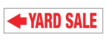Yard Sale left directional sign image