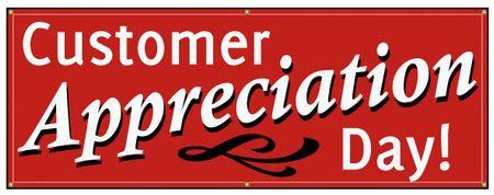 Customer appreciation day sign image