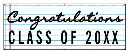 Congratulations 20XX lined paper design