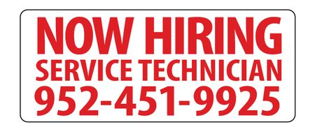 Now Hiring 9x22 magnetic image