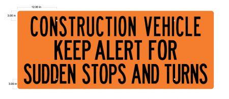 Construction Vehicle SS 24x60 v2 sign image