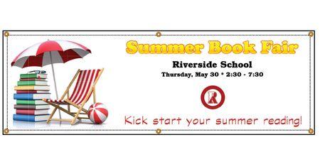 Riverside School Summer Book Fair Banner Image