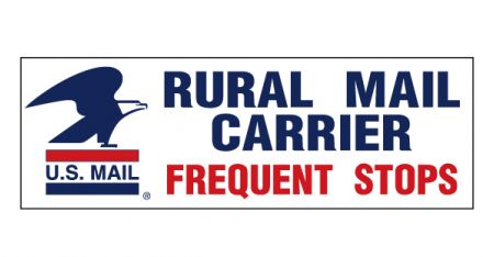 US Mail Caution Frequent Stops decal image