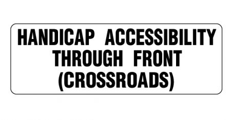 Handicap Accessibility magnetic sign image