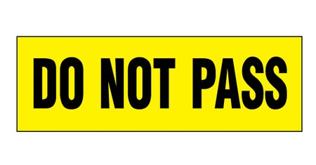Do Not Pass decal image