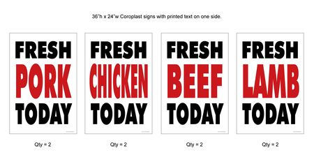 Fickle Creek Fresh Today yard sign kit
