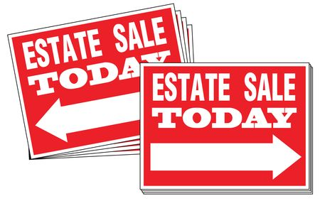 Ten Estate Sale Directional Signs Image