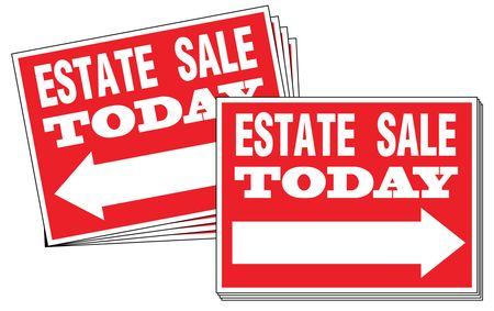 One Hundred Estate Sale Directional Signs Image