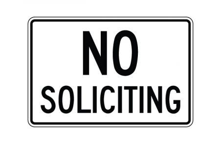 No Soliciting sign image