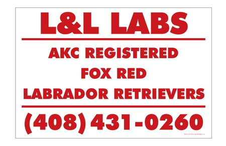 L&L Labs Red And White Yard Sign Image