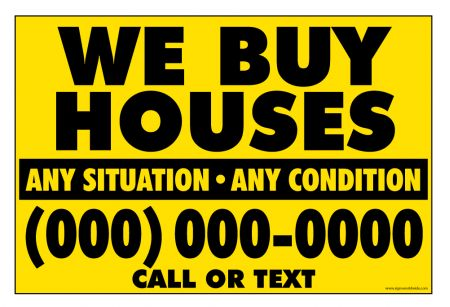 We Buy Houses Y&B Gen sign image