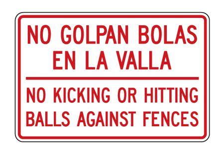 No Golpan Bolas sign image