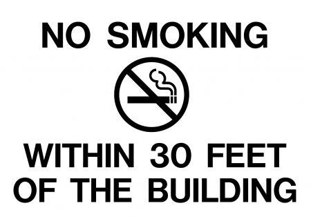 No Smoking within 30 feet decal image