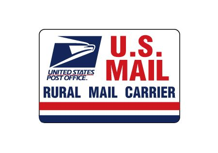 U.S. Mail Rural Carrier 8x12 magnetic image