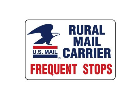 U.S. Mail Frequent Stops 8x12 magnetic image
