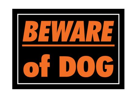 Beware of Dog plastic sign image