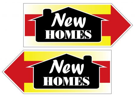 New Homes spinner sign image
