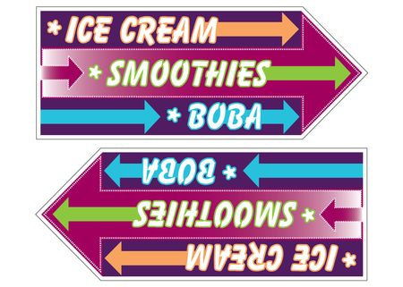 Ice Cream spinner sign image