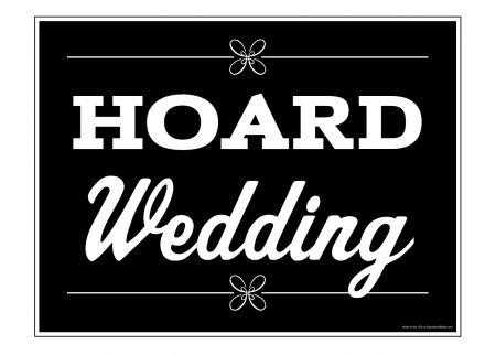 Hoard Wedding yard sign image