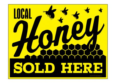 Local Honey Sold Here sign image