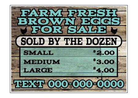 Farm Fresh Brown Eggs Sign Image
