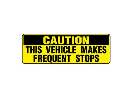 Caution Frequent Stop image
