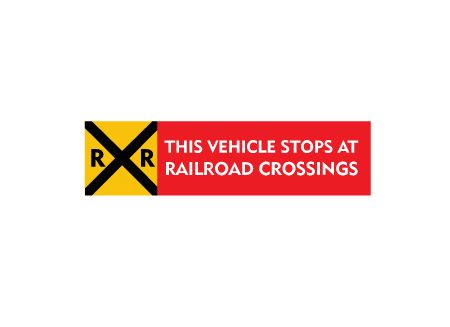 This Vehicle Stops at Railroad Crossings