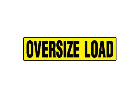 Wide Load Sign >> Magnetic Sign Oversize Load 12 H X 48 W