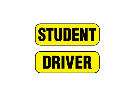 Student Driver magnetic image