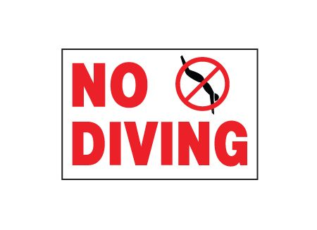 No Diving sign image
