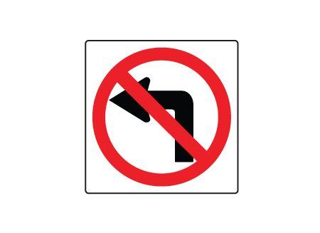 No left turn symbol sign image