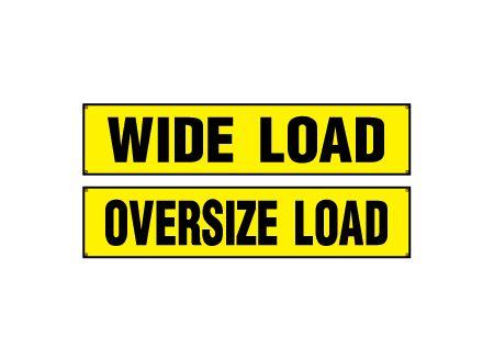 Wide Load Oversize Load banner image
