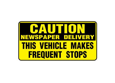 Caution News 6x12 plastic sign image