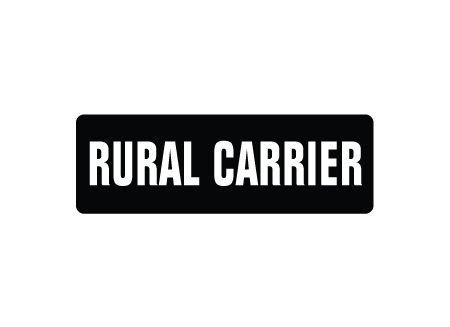 Rural Carrier magnetic sign image