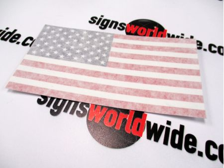 American Flag Decal with Transfer Tape image 3