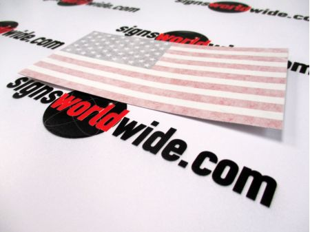 American Flag Decal with Transfer Tape image 4