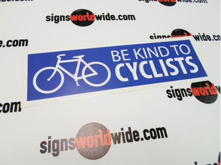 Be Kind to Cyclists decal image