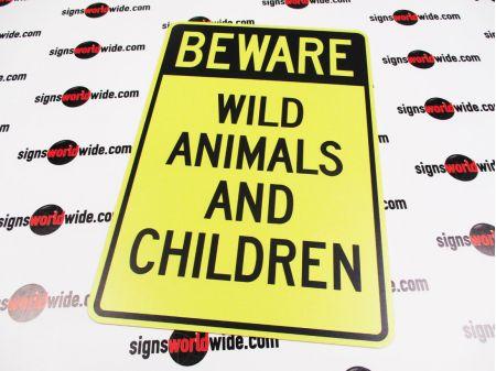 Beware Children sign image