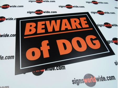 Beware of Dog sign image