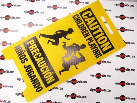 Caution Children Playing A frame sign image 2