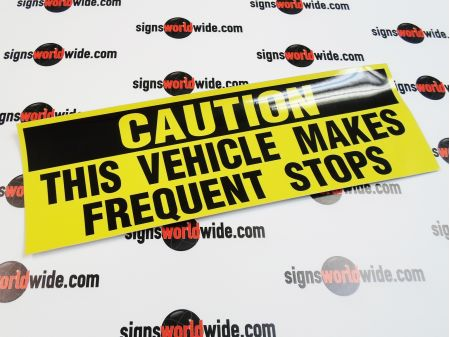 Caution Frequent Stops decal image