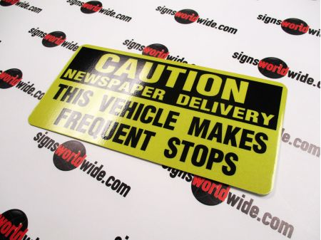 Aluminum 6x12 Caution sign image