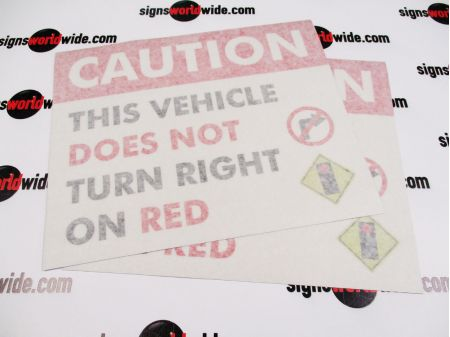 No Right On Red with transfer tape