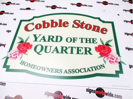 Cobble Stone Yard of the Quarter Sign Image 1